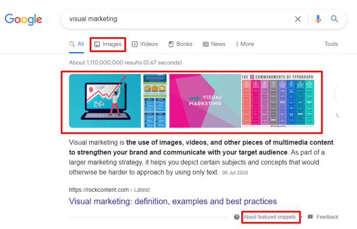 Using images is a great way to boost your organic CTR.