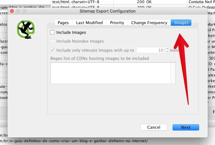Screamingfrog sitemap image config for How to Create an SEO-Boosting XML Sitemap