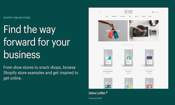 Shopify online store for Best Ecommerce Website Builders