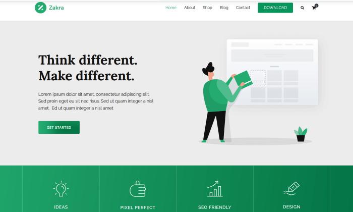 Zakra demo site for Best WordPress Themes