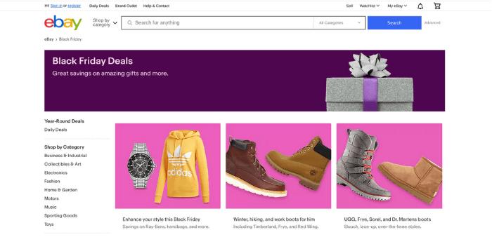 Black Friday e-commerce - copy and visuals