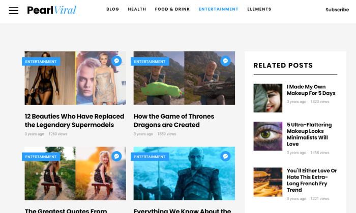 Pearl blog feed for Best WordPress Themes for Blogs