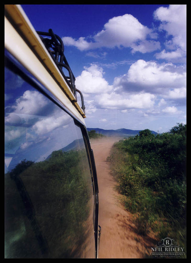 Lancashire Wedding Photographer - The view from a bus along a Kenyan Road