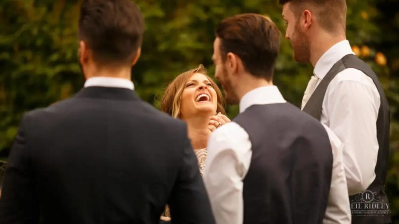 Albright Hussey Wedding Photographer, Bride at Albright Hussey Manor