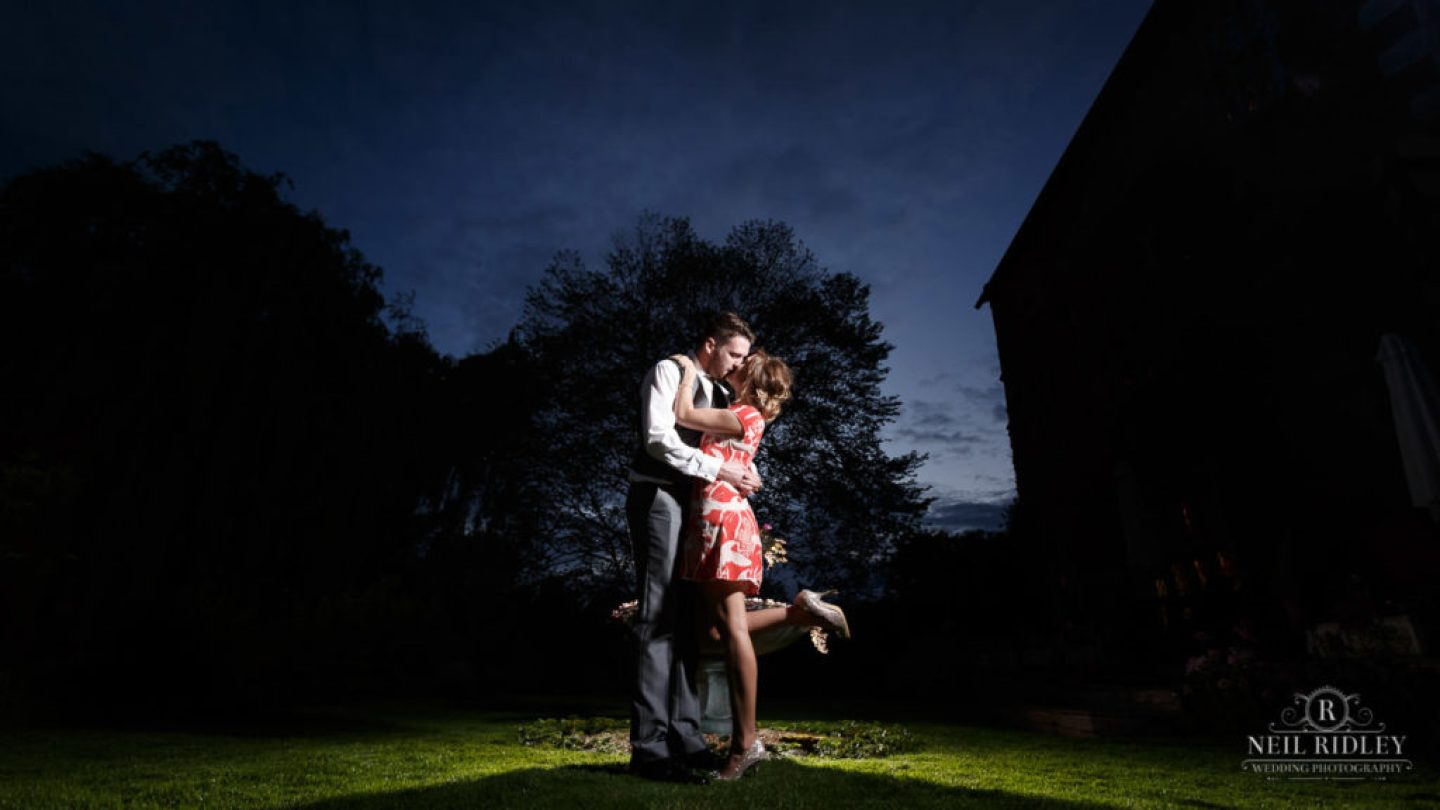 Albright Hussey Wedding Photographer, Bride and groom at Albright Hussey Manor