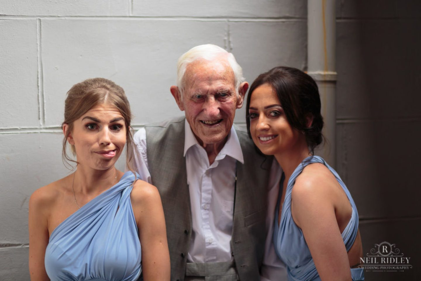 Brides Father with two Bridesmaids at The Park House Hotel, Blackpool