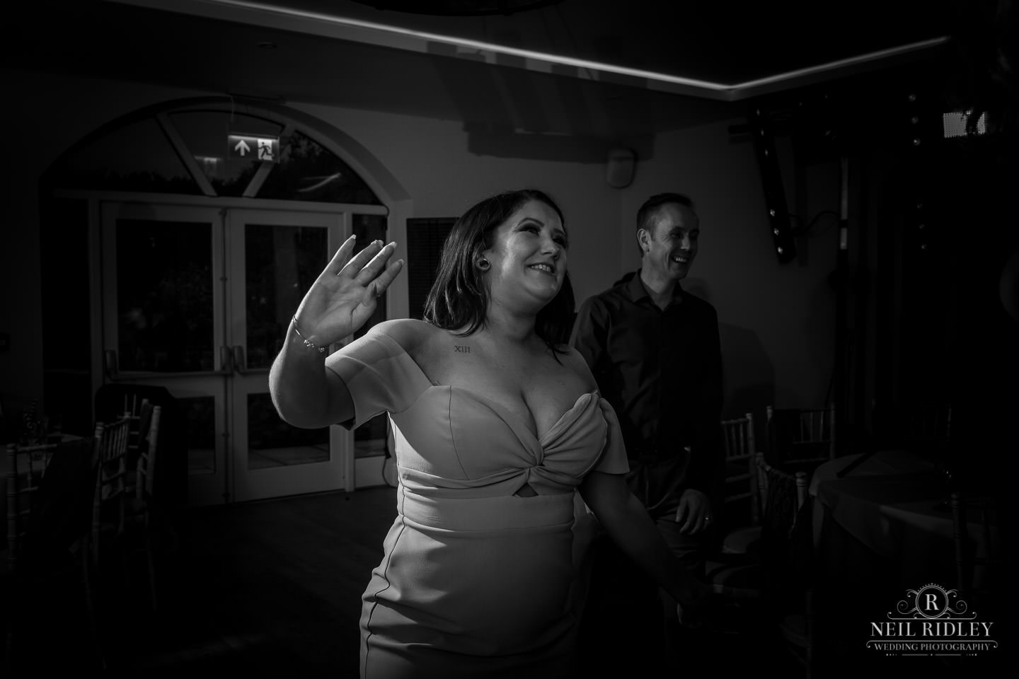Mill at Conder Green Wedding Guest dancing