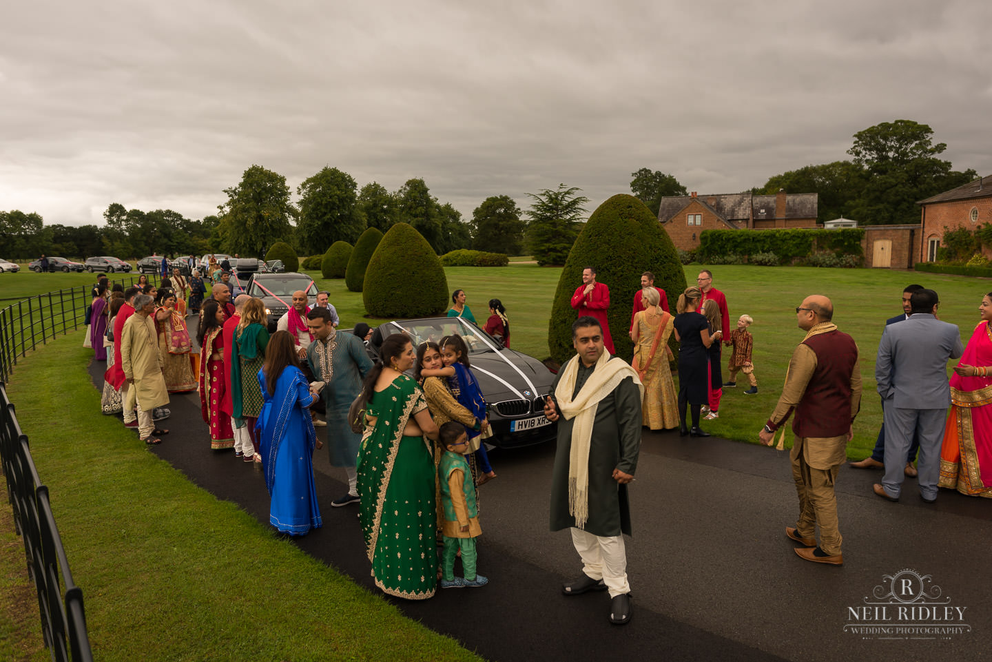 Merrydale Manor Wedding Photographer - The Baraat about to start