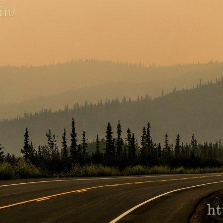 Scorched, smoke filled horizons