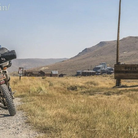 At the entrance to Bodie