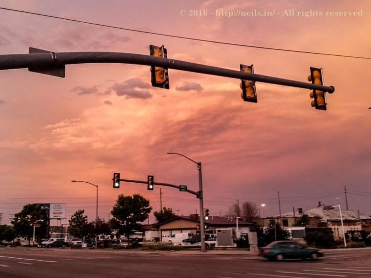 Beautiful sunset in Cheyenne