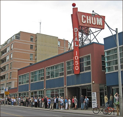 More than 300 people waited to tour the studios of Top-40 icon CHUM radio in Toronto. Picture / Neil Sanderson