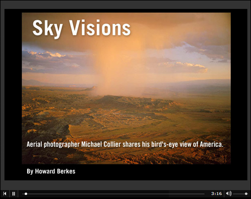 Click to watch Sky Visions, an audio slideshow by Howard Berkes of NPR