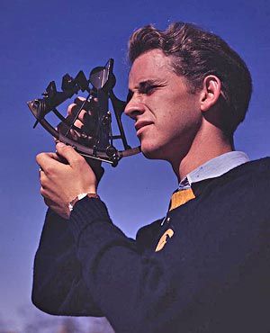 Trainee using sextant - US Library of Congress