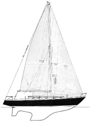 38' sloop Oceana, designed by Sparkman & Stephens