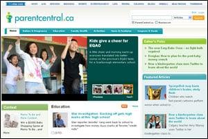 Parentcentral.ca front page 2011