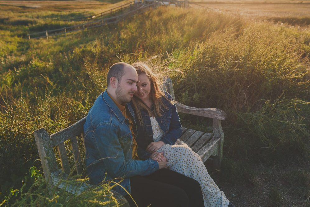 Couples shoot Cley Next the Sea