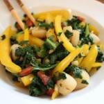 Chorizo, Scallop and Kale Stir Fry