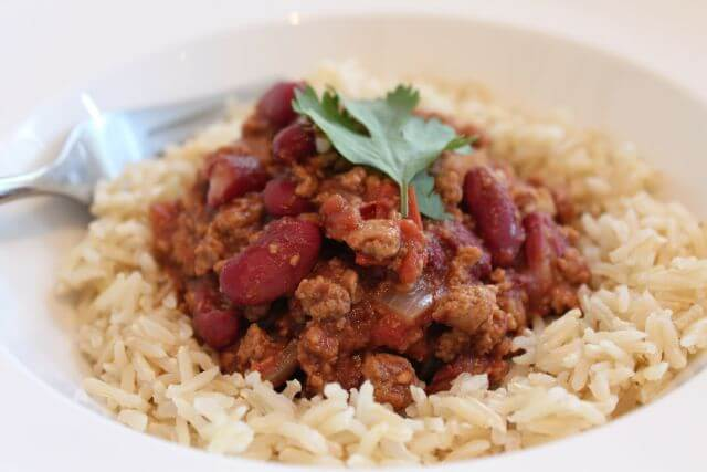 I've made this delicious family Quorn chilli recipe for many years now. In fact, it's so versatile you can substitute with Beef if you don't have Quorn., and it's just as tasty, albeit then not vegetarian. Using quorn will also give you the added benefit of a lower fat content too. But, either option is great – and it's your choice!