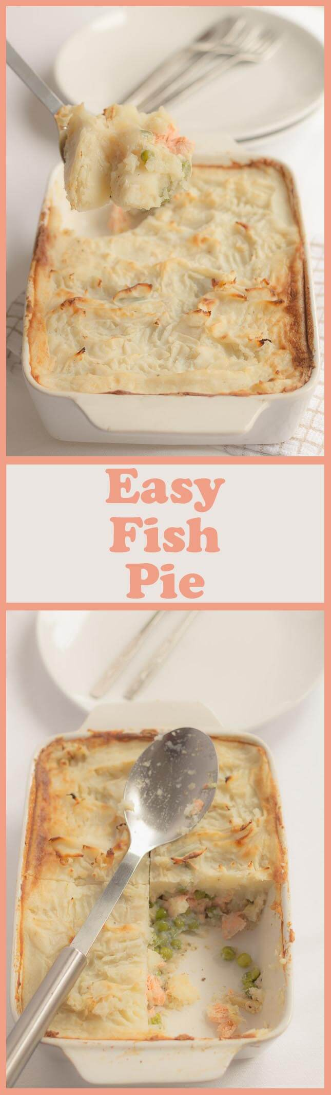 This easy healthy fish pie makes an excellent weekday family dinner for 4 and can be on the table in about one hour. Not only is it packed full of protein and taste but each serving comes in at less than 400 calories and is low in fat, saturated fat, sugar and salt too!