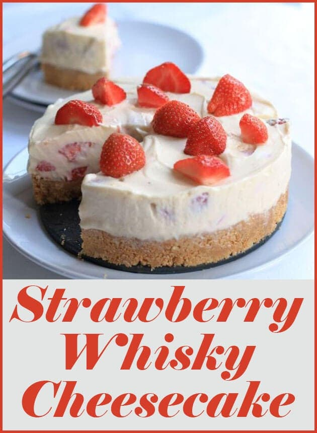 Strawberry whisky cheesecake is to die for! This is a fantastic, fresh and indulgent dessert. It's perfect for dinner parties and will really impress your guests!