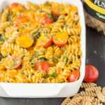 Oven Baked Whole Wheat Pesto Fusilli
