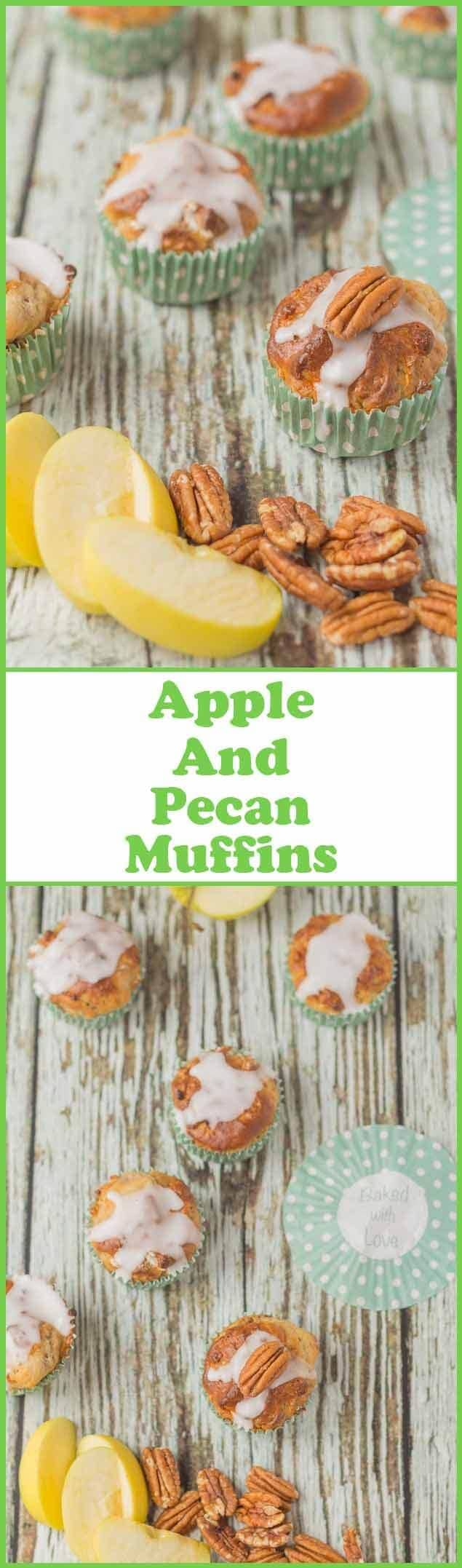 These scrumptious apple and pecan muffins have a light and moist texture and are sweet to taste. They have a little cinnamon sugar crunchy topping but are only 173 calories each!