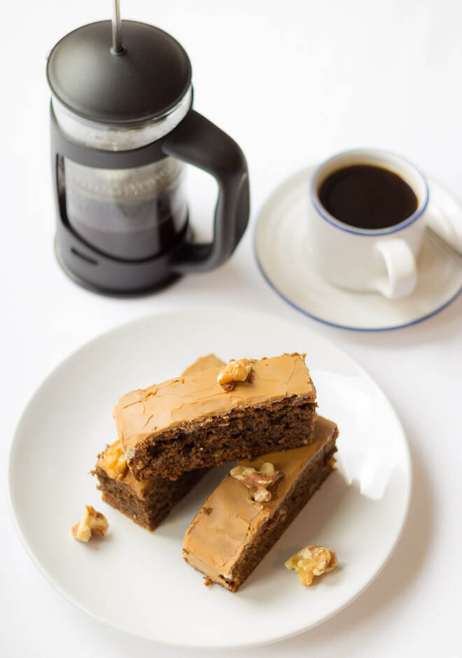 A deliciously moist, nutty textured cake with just a hint of coffee. Loved by coffee lovers and non-coffee lovers alike.