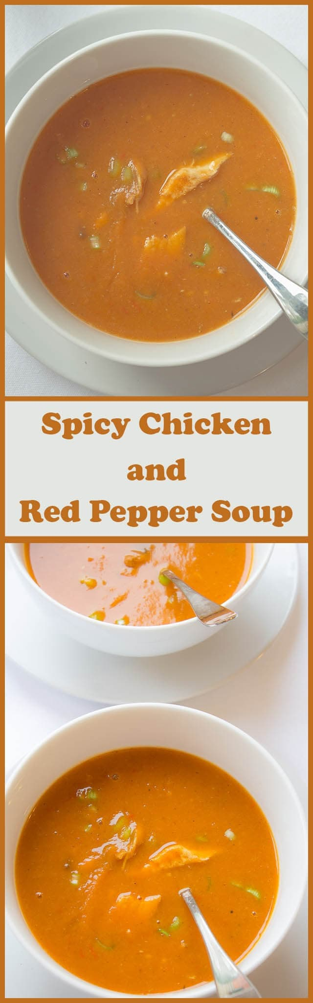 This amazing spicy chicken and red pepper soup gives you all your recommended daily intake of vitamin A and vitamin C in just one bowl of deliciousness! Warming, sweet and of a creamy texture this is a comforting recipe guaranteed to make you smile.
