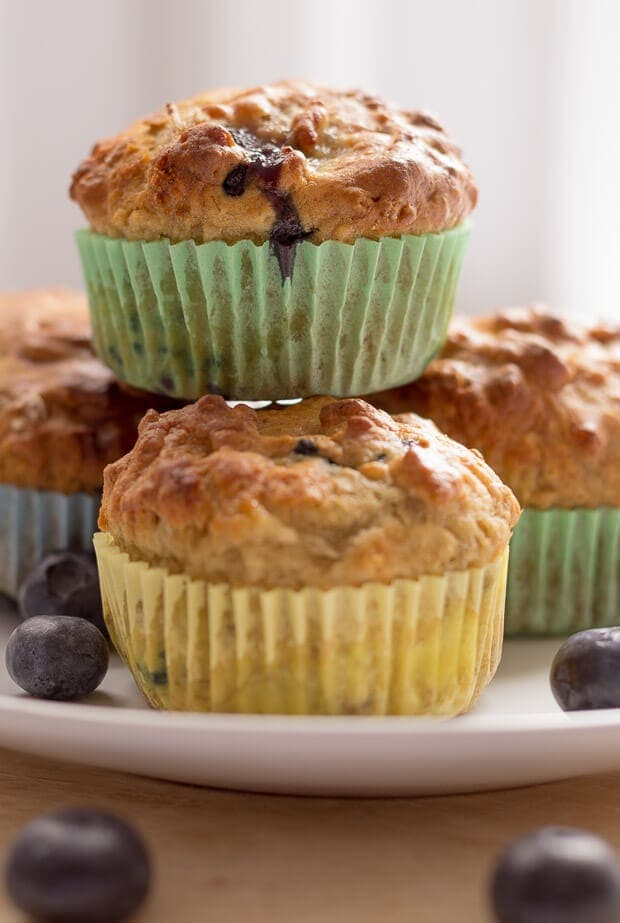 Banana Blueberry Breakfast Muffins Featured Image