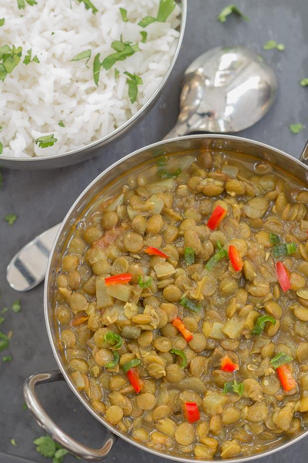 Green Lentil Dahl Below Recipe