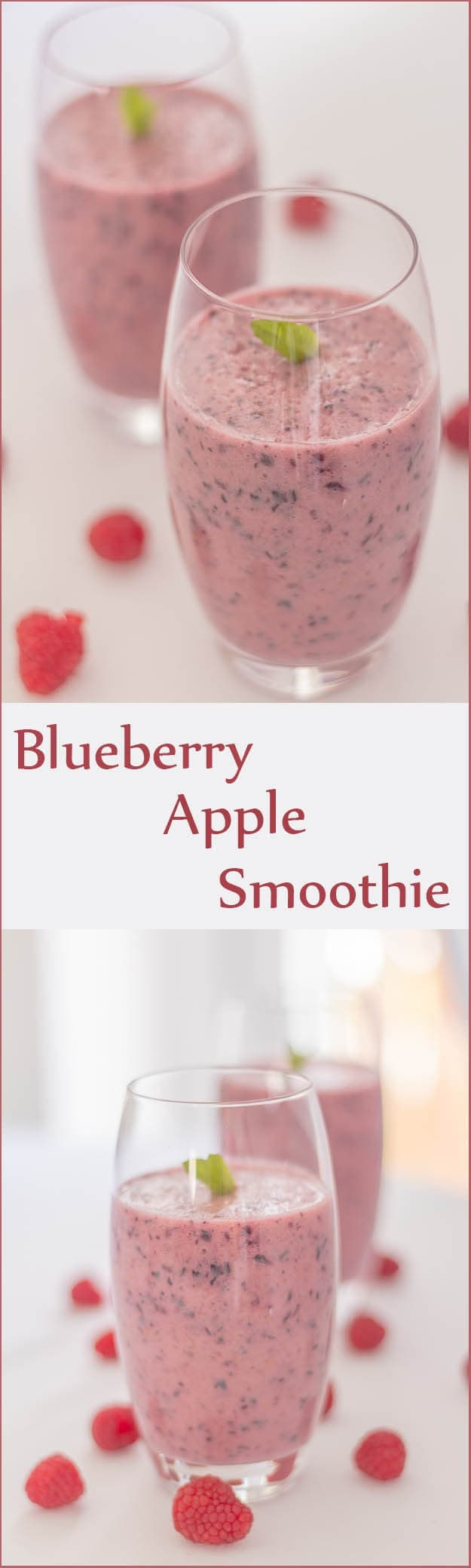 This blueberry apple smoothie is not only healthy but it tastes just great. An amazingly refreshing wakeup call in the morning or maybe as a lively pick me up during the day.