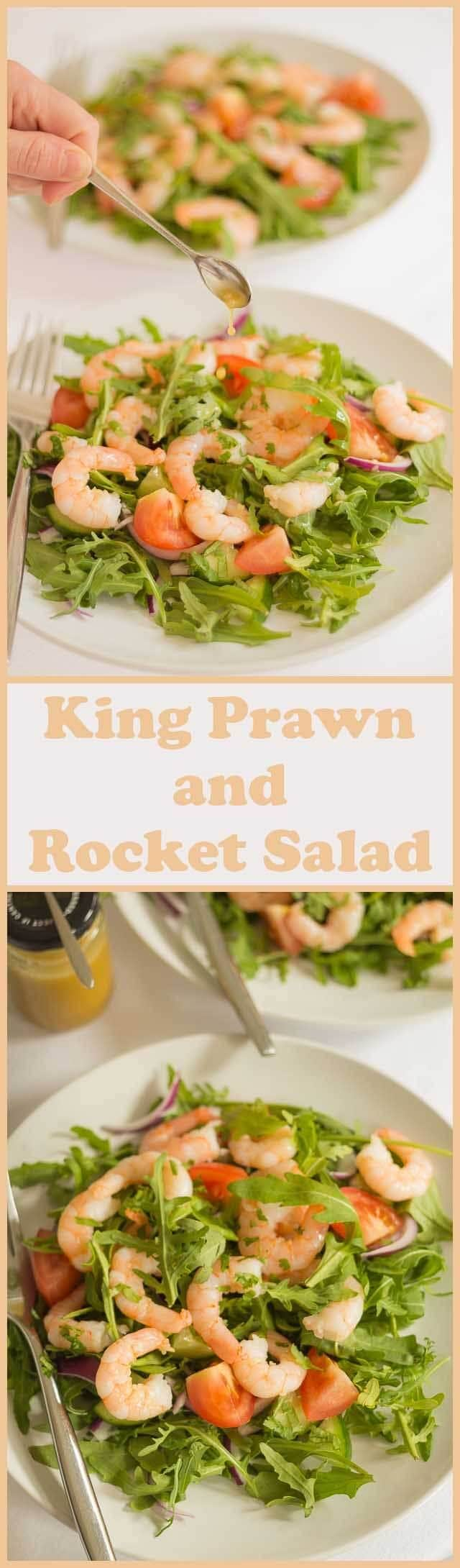 You'll love this king prawn and rocket salad recipe, which has a delicious lime and soy dressing bursting with flavour. There's plenty of nutritional goodness here to brighten up any dull lunchtime or dinner. This is one salad you'll not want to put down once you've started it!