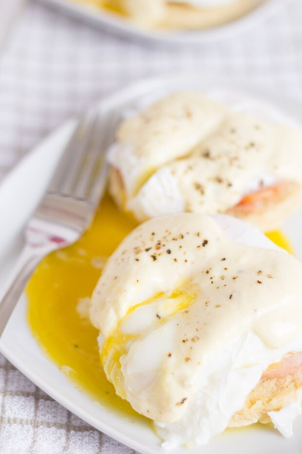 Healthy Eggs Benedict ready to eat
