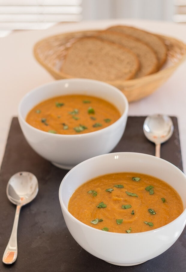 Tomato and green lentil soup is a really rich and satisfying soup. It's pretty filling so you can be sure that you'll not be tempted to reach for any unhealthy snacks after you've had a bowl of this amazing soup!