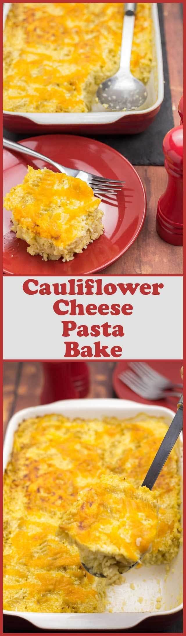 This easy cauliflower cheese pasta bake has all the flavours of a classic cauliflower cheese recipe. However, the addition of whole wheat pasta and a reduced fat cheese sauce make it an altogether much more healthier and filling family dinner option.