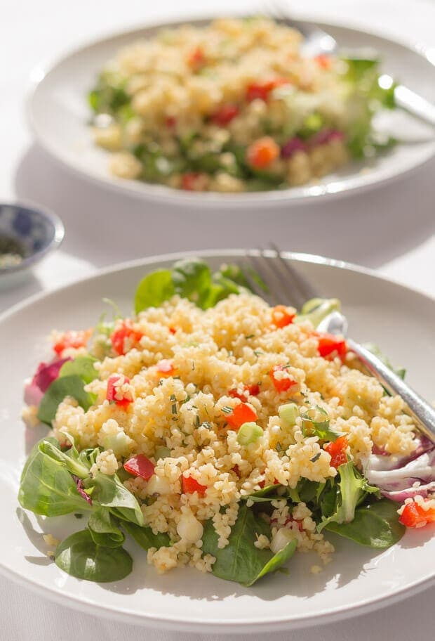 Red Pepper and Rosemary Bulgur Wheat Salad