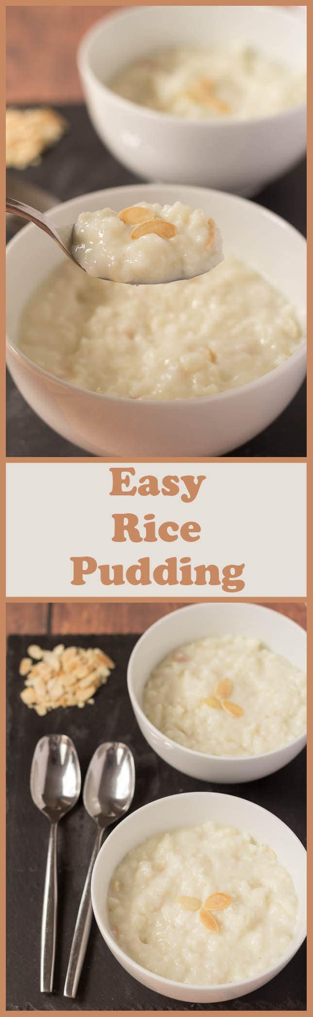 This creamy, delicious and satisfying easy rice pudding version tastes just as good as the original recipe but has less calories and fat.