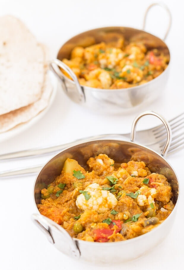 This cauliflower dhansak is a rich and filling medley of delicious flavours. Vegan, gluten free and low calorie too, you'll find yourself coming back again and again for another spoonful of this satisfying curry.