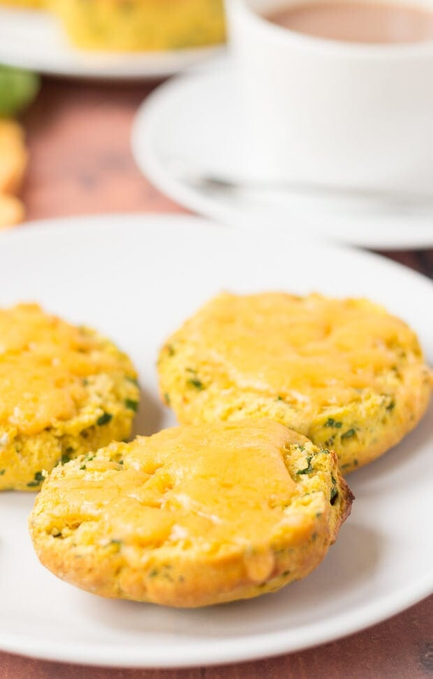 These sweet potato spinach scones are a great way of using up leftover ingredients. They're also an excellent snack or a weekend breakfast option. Delicious with melted cheese!