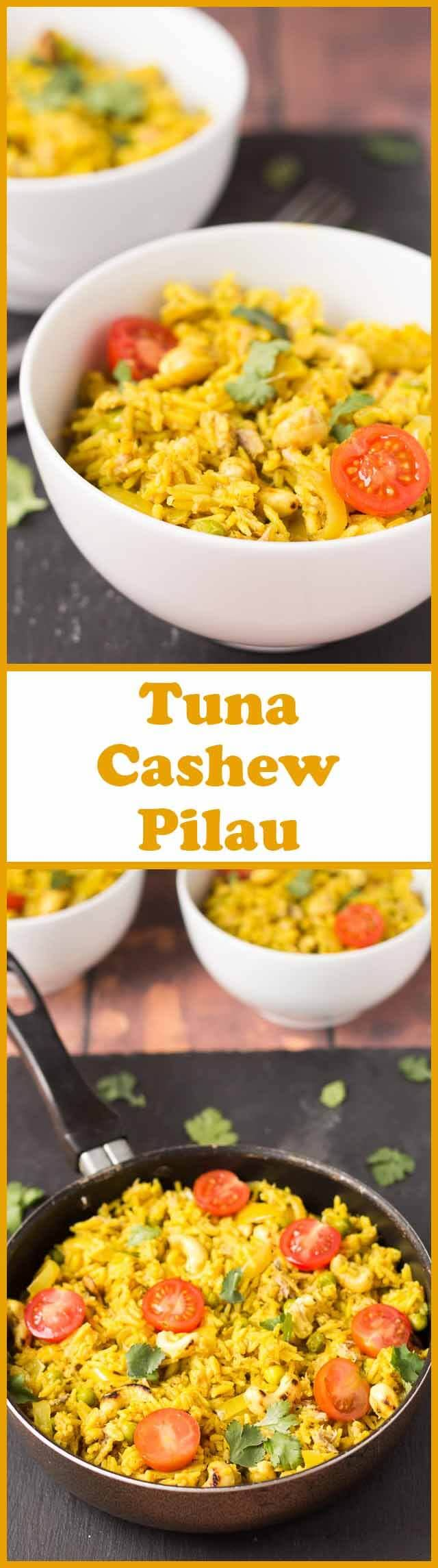 This tuna cashew pilau recipe is so easy and it's budget friendly too. It's made in well under an hour, all in one pot meaning that you can relax easily with hardly any dishes to do!