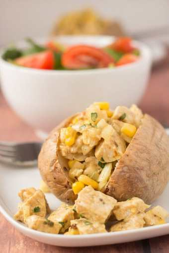 Baked Potato With Coronation Turkey