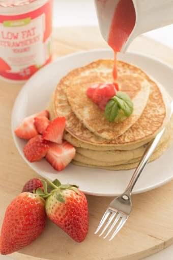 Strawberry Valentines Pancakes