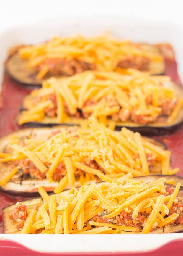 Baked Aubergine With Red Pesto And Cheese - How To Bake Your Aubergine Step 3