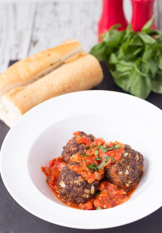 This Quorn meatballs recipe shows you how to make Quorn meatballs in under one hour. Baked in the oven and with a delicious tomato sauce this is an excellent meat free weeknight family meal!