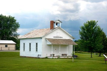 Amish schoolhouse in operation for almost 100 years (through early 1950s).