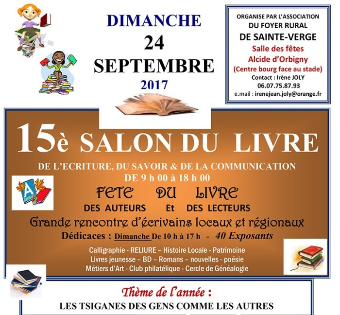 salon du livre sainte-verge