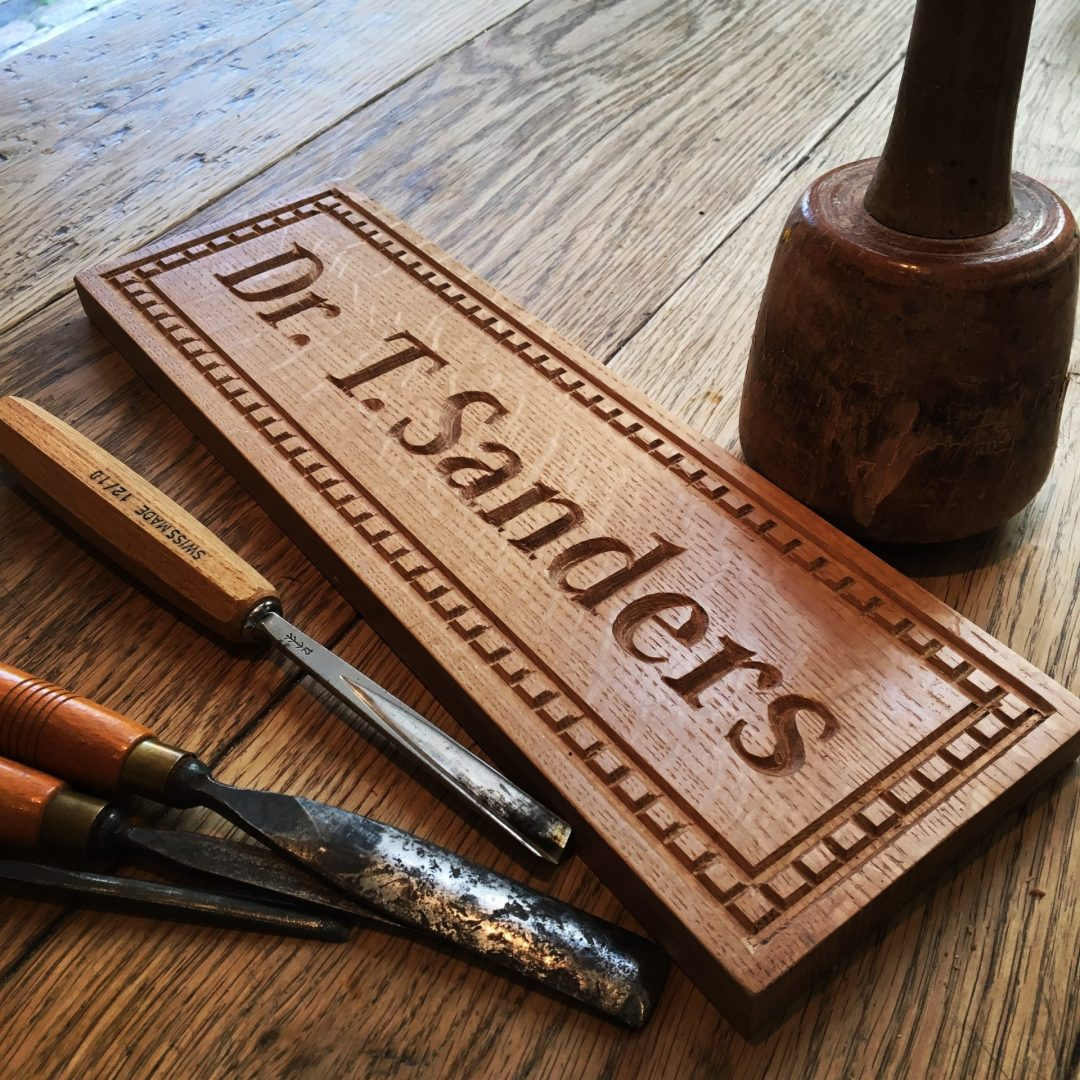 Oak Desk Sign