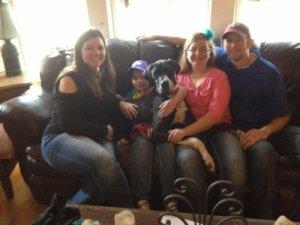Adoption day! Wrangler (aka Crosby) and his fabulous fur-ever family - April 2014