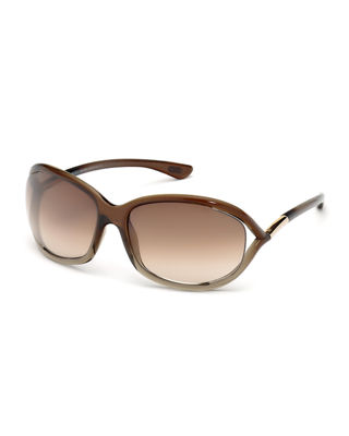 Tom Ford Jennifer Open-temple Sunglasses Neiman Marcus